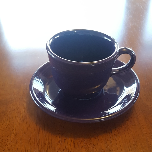 TEA COFFEE CUP AND SAUCER TURQUOISE NEW FIESTA 7.75 OZ